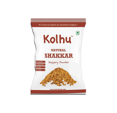 Kolhu Natural Shakkar 5 KG [Pack of 10, 500g Each]