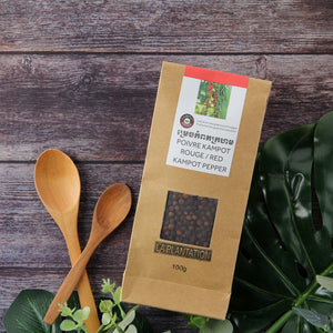 Organic Red Kampot Pepper 100g