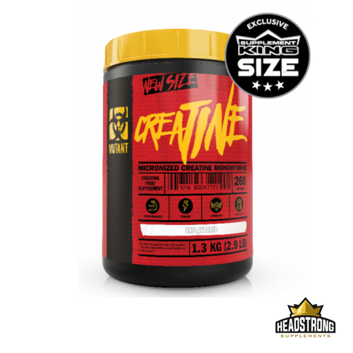 Mutant Creatine Monohydrate Unflavoured (260 Serv.)
