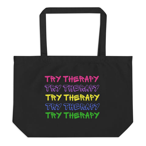 Try Therapy X5 Large organic tote bag