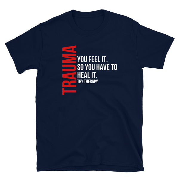 Black and Red Trauma T