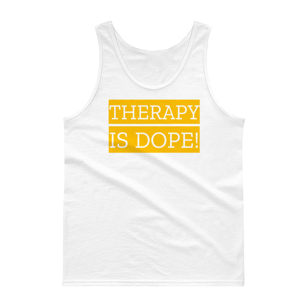 Men's Therapy Is Dope Tank