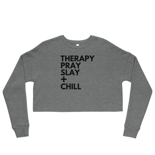 Therapy + Chill Crop Sweatshirt