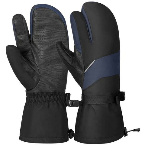 Vbiger-Unisex-Ski-Gloves-Warm-Winter-Gloves-Thick-Sports-Mitten-Cold-Weather-Gloves-Touch-Screen-Gloves-with-Adjustable-Buckle-and-Elastic-Wrist-Strap-Black-and-Blue