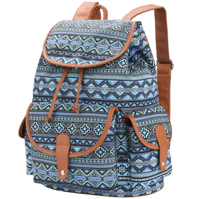 Vbiger Canvas Backpack Casual Shoulders Bag Travel Daypack Fashionable School Bag