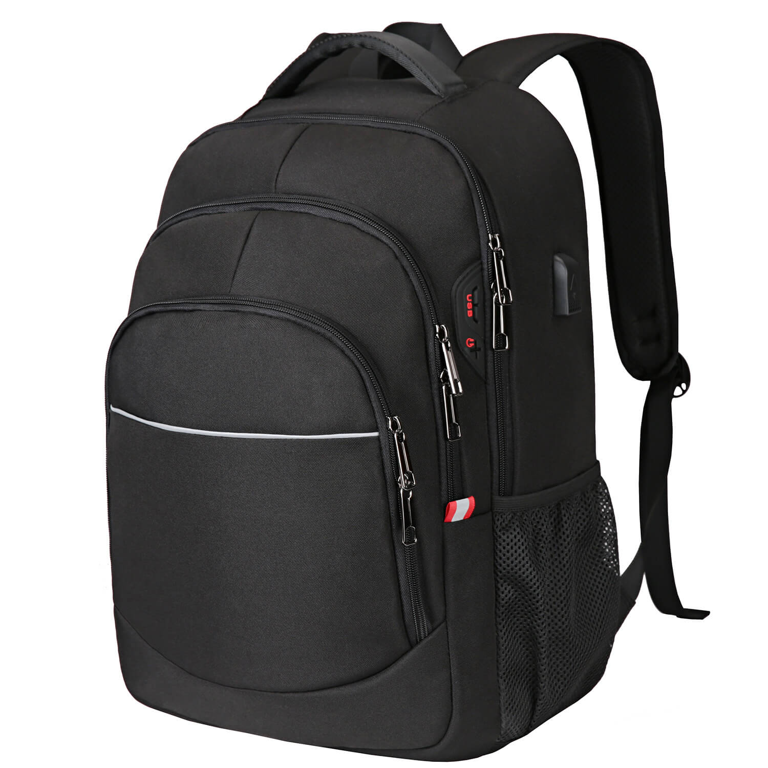 "Vbiger Multi-purpose Business Backpack 15.6"" Laptop Bag with FRID Pocket, Black"
