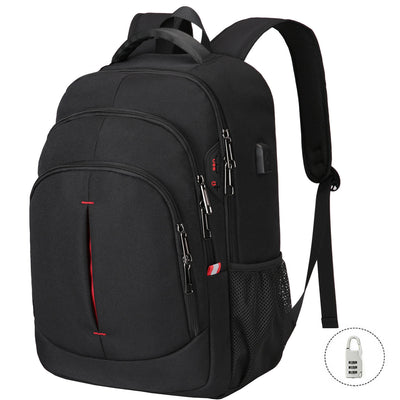 "Vbiger Multi-purpose Business Backpack 15.6"" Laptop with FRID Pocket, Black"