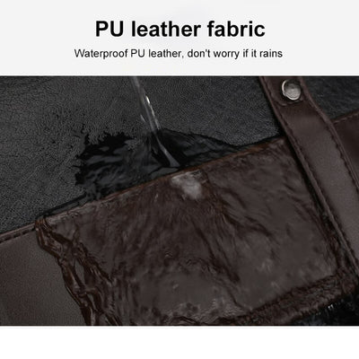 Vbiger PU Leather Trendy Business Backpacks Large-capacity Laptop Bags