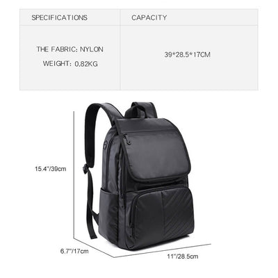 Vbiger Travel Backpacks Laptop Shoulder Backpack School Bag with USB Charging Port, Black