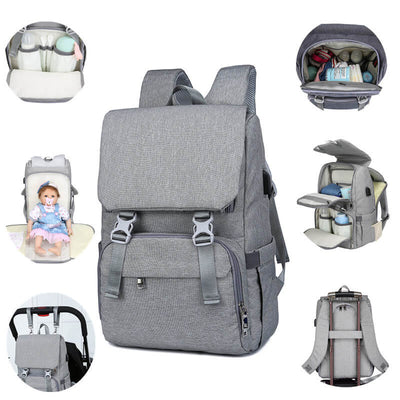 Vbiger USB Diaper Bag Large-capacity Backpack Travel Bag