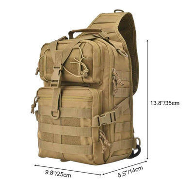 Vbiger 20L Crossbody Bag Waterproof Military Bag Outdoor Single Shoulder Bag - Backpacks