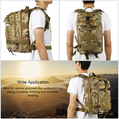 Vbiger 30L Large-capacity Military Backpacksk Rucksack for Hiking Trekking Camping and Hunting - Backpacks