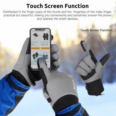 Vbiger Adult Winter Gloves Touch Screen Gloves Anti-slip Sport Gloves - Gloves