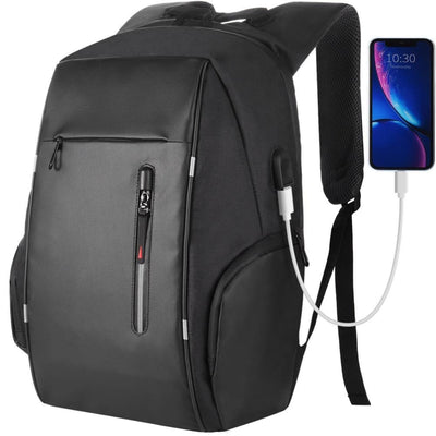 Vbiger Business Backpack Casual Daypack with USB Charging Port & Reflective Strips - Backpacks