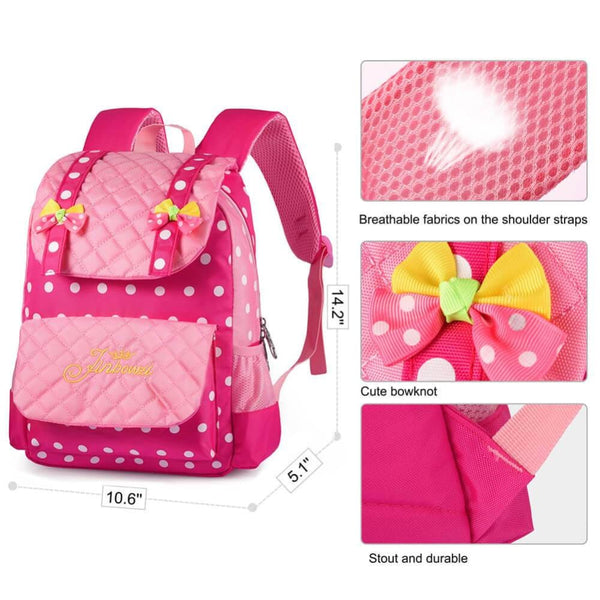 Vbiger Casual School Bag Nylon Shoulder Daypack Children School Backpacks for Teen Girls - Backpacks