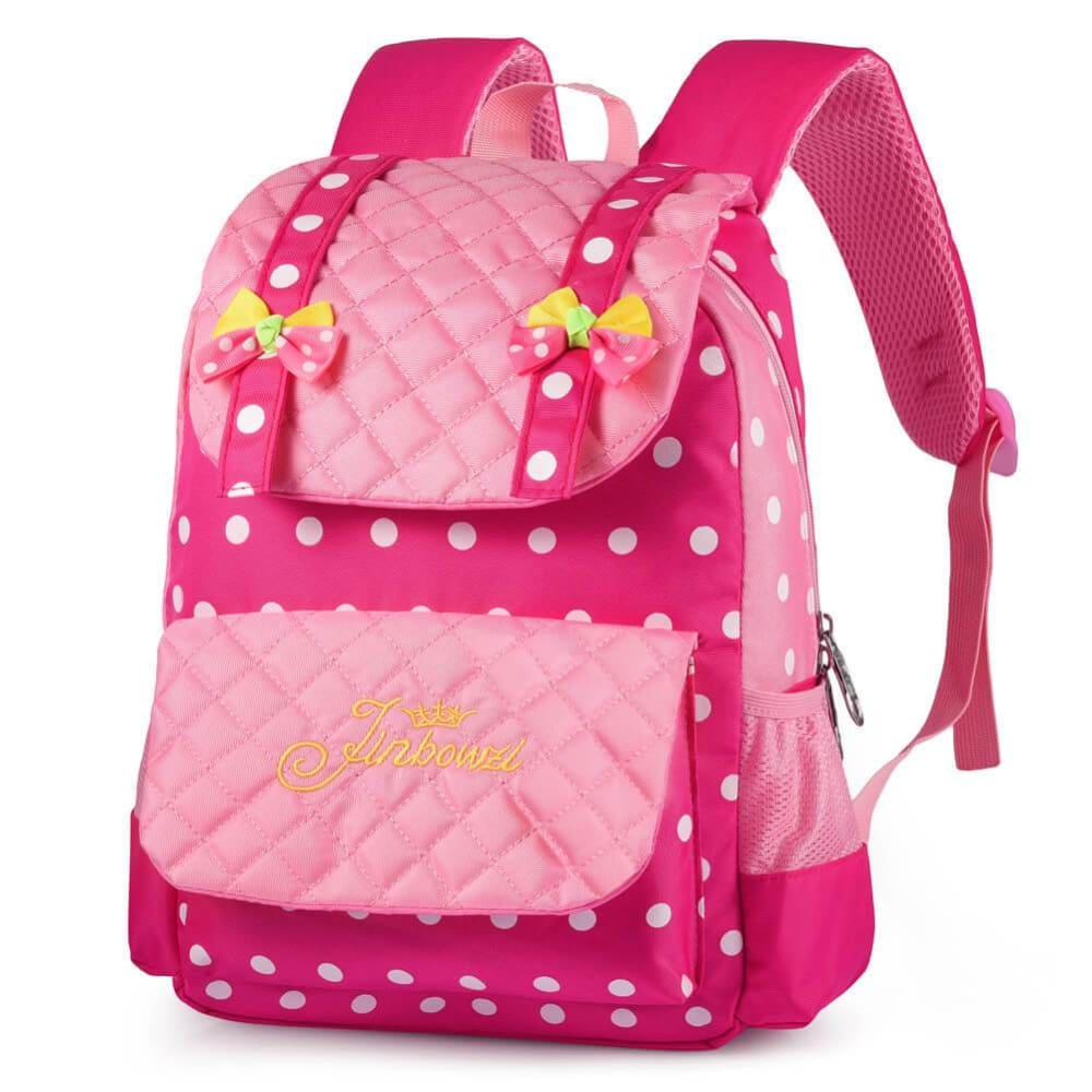Vbiger Casual School Bag Nylon Shoulder Daypack Children School Backpacks for Teen Girls - Pink - Backpacks