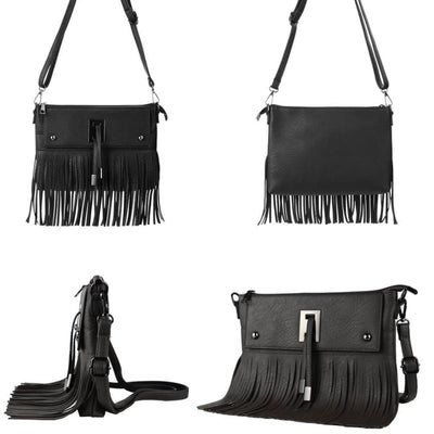 Vbiger Fashionable Shoulder Bags Cross-Body Bag Women Handbag with Tassel Decoration - Bag