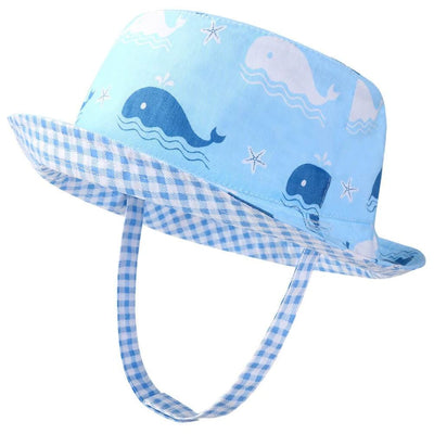 Vbiger Kids Sun Protection Hat UPF 50+ Sun Hat Bucket Hat with Double-sided Design and Improved Self-adhesive Strap - 50cm - Hats