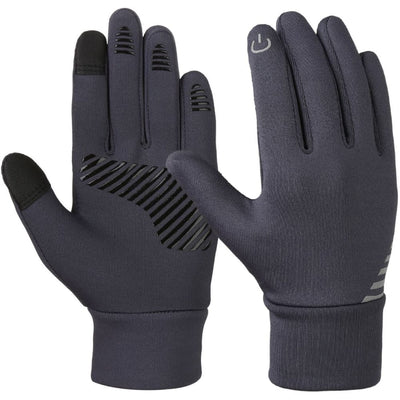 Vbiger Kids Winter Gloves Anti-skid Touch Screen Gloves with Reflective Printing and Silicone Strip - M - Gloves