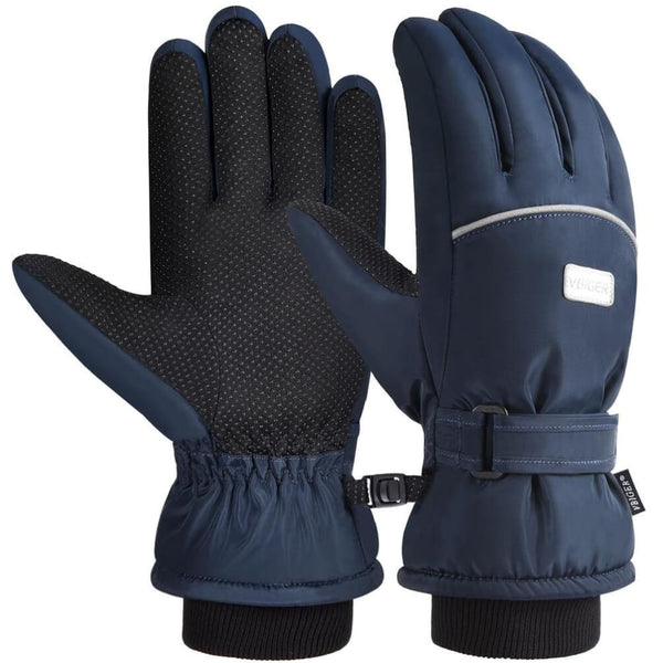 Vbiger Kids Winter Gloves Anti-slip Ski Gloves Cold Weather Gloves Suitable for Kids between 6-8 Years Old Dark Blue - S - Gloves