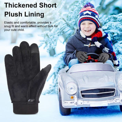 Vbiger Kids Winter Gloves Children Full Fingers Cycling Gloves Touchscreen Gloves - Gloves