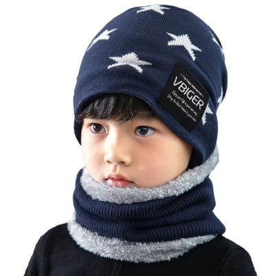 Vbiger Kids Winter Knitted Hat And Infinity Scarf Set 2 Pieces Warm Winter Knitted Set - Hats