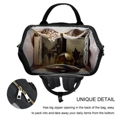 Vbiger Large Capacity Mummy Maternity Nappy Bag Multifunctional Diaper Backpack Waterproof Mummy Bag - Bag