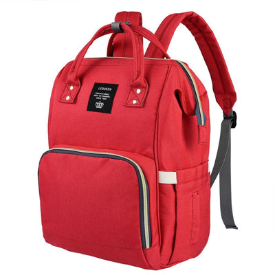 Vbiger Large Capacity Mummy Maternity Nappy Bag Multifunctional Diaper Backpack Waterproof Mummy Bag - Red - Bag