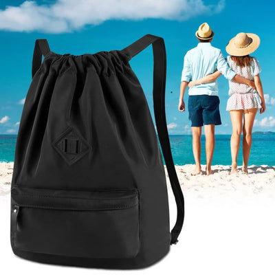 Vbiger Men and Women Drawstring Backpack Chic Classic Travel Drawstring Bag - Backpacks
