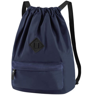 Vbiger Men and Women Drawstring Backpack Chic Classic Travel Drawstring Bag - Dark Blue - Backpacks