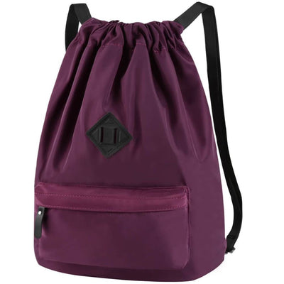 Vbiger Men and Women Drawstring Backpack Chic Classic Travel Drawstring Bag - Purple - Backpacks