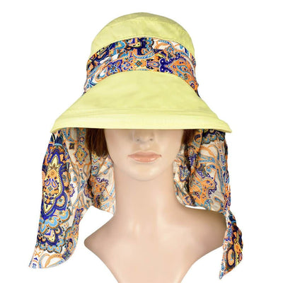 Vbiger New Detachable Sunbonnet for Outdoors Sport Foldable Visor with Zipper and Huge Bongrace - Hats