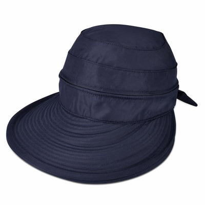 Vbiger New Detachable Sunbonnet for Outdoors Sport Foldable Visor with Zipper and Huge Bongrace - Navy Blue - Hats