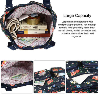 Vbiger Nylon Handbag Casual Messenger Bag Large-capacity Shoulder Bag Travel Tote Bag for Women - Bag