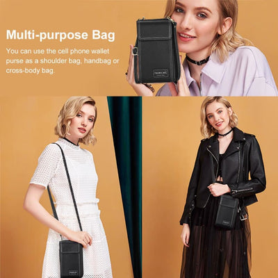 Vbiger Portable Cell Phone Purse Wallet Small Cross-body Bag Lightweight Shoulder Bag for Women - Bag