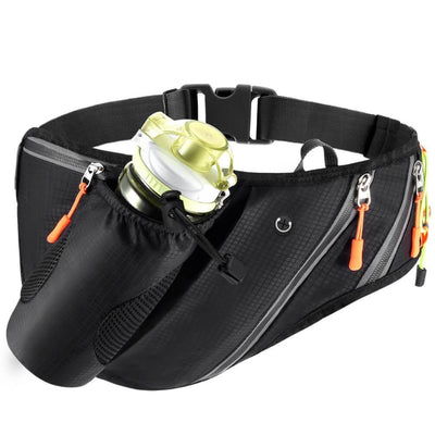 Vbiger Running Belt Waterproof Fanny Pack with Water Bottle Pocket and Adjustable Strap - Bag