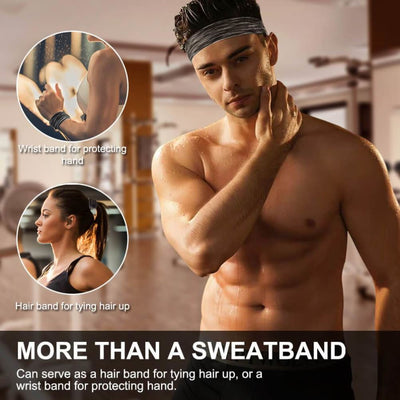Vbiger Sports Headband Stretchy Sweatbands Workout Headbands for Running Training Yoga 3-Pack - Hats