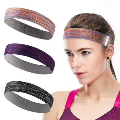 Vbiger Sports Headband Stretchy Sweatbands Workout Headbands for Running Training Yoga 3-Pack - For Women - Hats