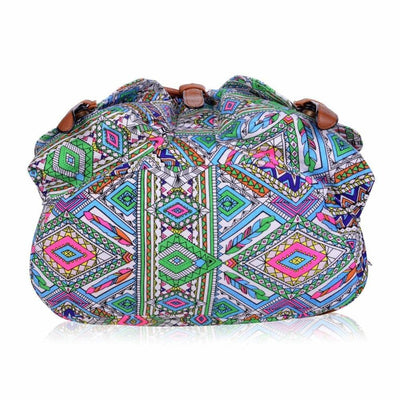 Vbiger Stylish and Ethnic Bag for Travelling Popular Canvas Backpack for Women with Elephant Pattern - Bag