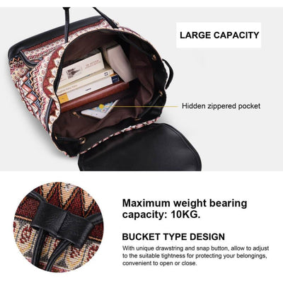 Vbiger Stylish Canvas Backpack Casual Bag Drawstring Backpacks - Backpacks