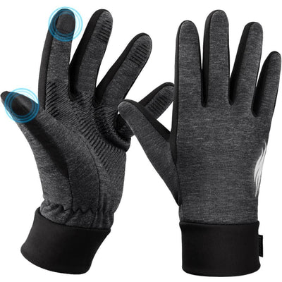 Vbiger Thickened Winter Gloves Warm Touch Screen Gloves Anti-slip Cycling Gloves - Gloves