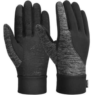 Vbiger Thickened Winter Touch Screen Gloves with Anti-slip Silicone and Stretchy Cuff Black - S - Gloves