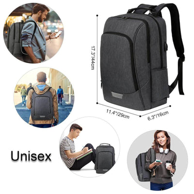 Vbiger Unisex Laptop Backpack Slim Casual Outdoor Day pack with Security Coded Lock - Backpacks