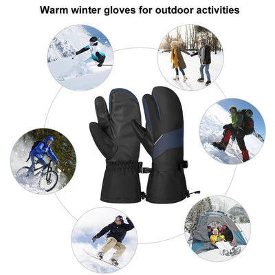 Vbiger Unisex Ski Gloves Warm Winter Gloves Thick Sports Mitten Cold Weather Gloves Touch Screen Gloves with Adjustable Buckle and Elastic