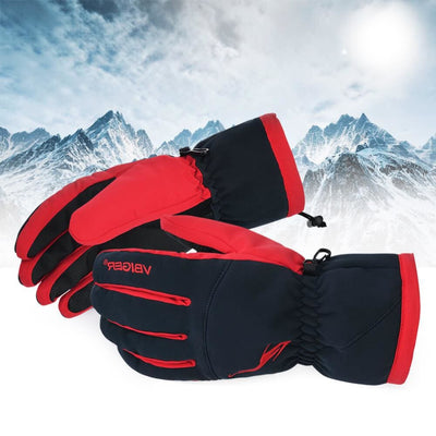Vbiger Unisex Winter Warm Gloves Full-finger Snowboard Gloves Waterproof Sports Gloves - Gloves