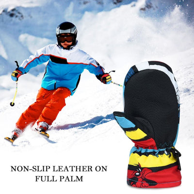 Vbiger Warm Skiing Skating Gloves Waterproof Full Finger Mittens With Fleece Lining in Winter and Autumn - Gloves