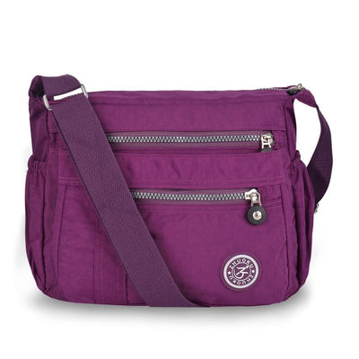 Vbiger Waterproof Shoulder Bag Fashionable Cross-body Bag Casual Bag Handbag for Women - Purple - Bag