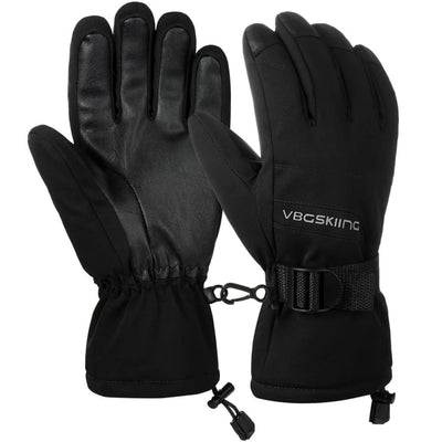 Vbiger Windproof Ski Thickened Winter Gloves Warm Splash-proof Sports Gloves - Gloves