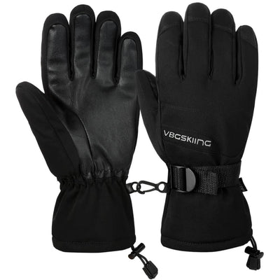 Vbiger Windproof Ski Thickened Winter Gloves Warm Splash-proof Sports Gloves - M - Gloves