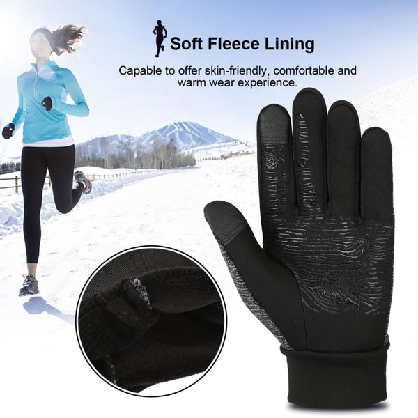 Vbiger Winter Anti-slip Touch Screen Gloves Warm Gloves Flexible Outdoor Sports Gloves for Men and Women - Gloves